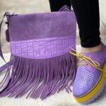 Geantă Violet