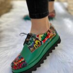 Pantofi Green Mosaic